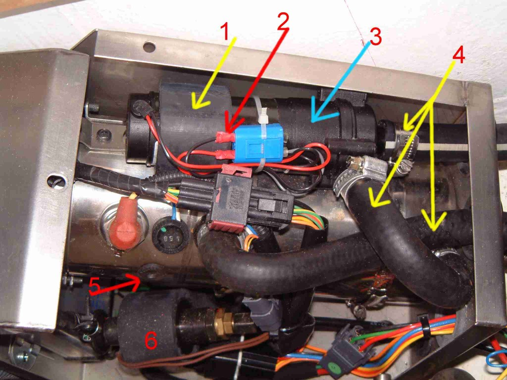 hight resolution of the diesel heater heats water that is pumped into the heating circuit when required when the engine is running