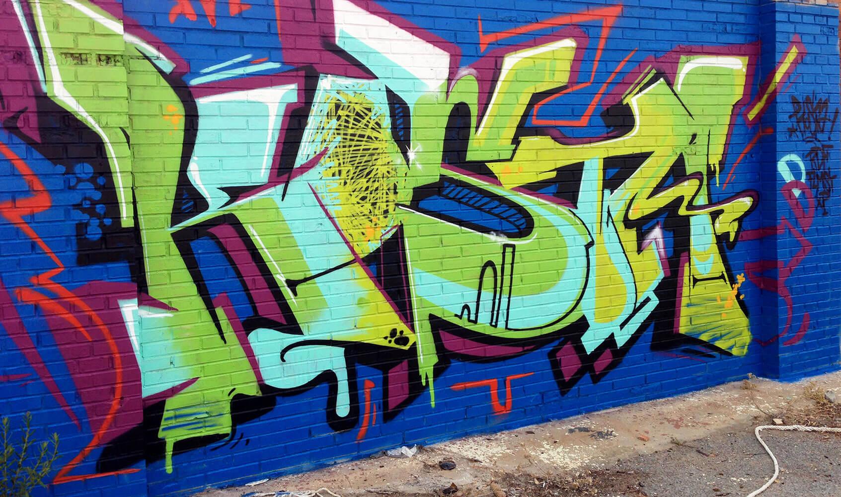 Graffiti in malaga kosta by artist max kosta 2015