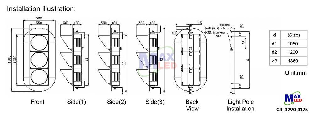 300mm led traffic light malaysia with cobweb lens jd300 3 35 2a. Black Bedroom Furniture Sets. Home Design Ideas