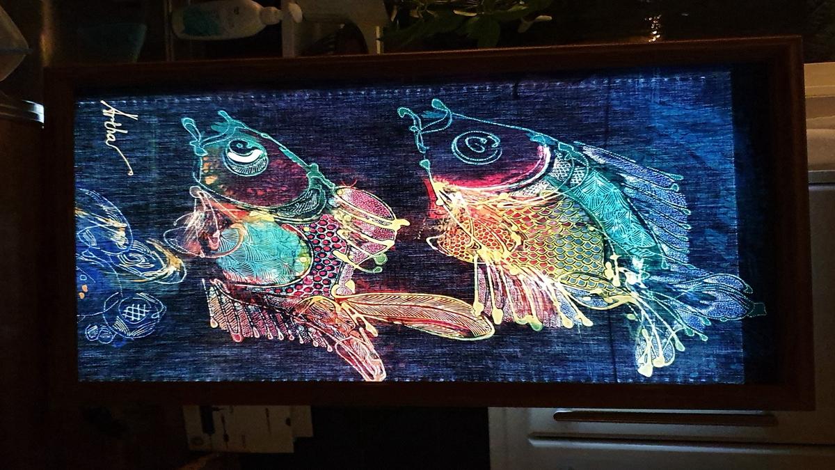led panel back light paint art
