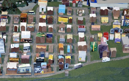Installation view of Dawson City