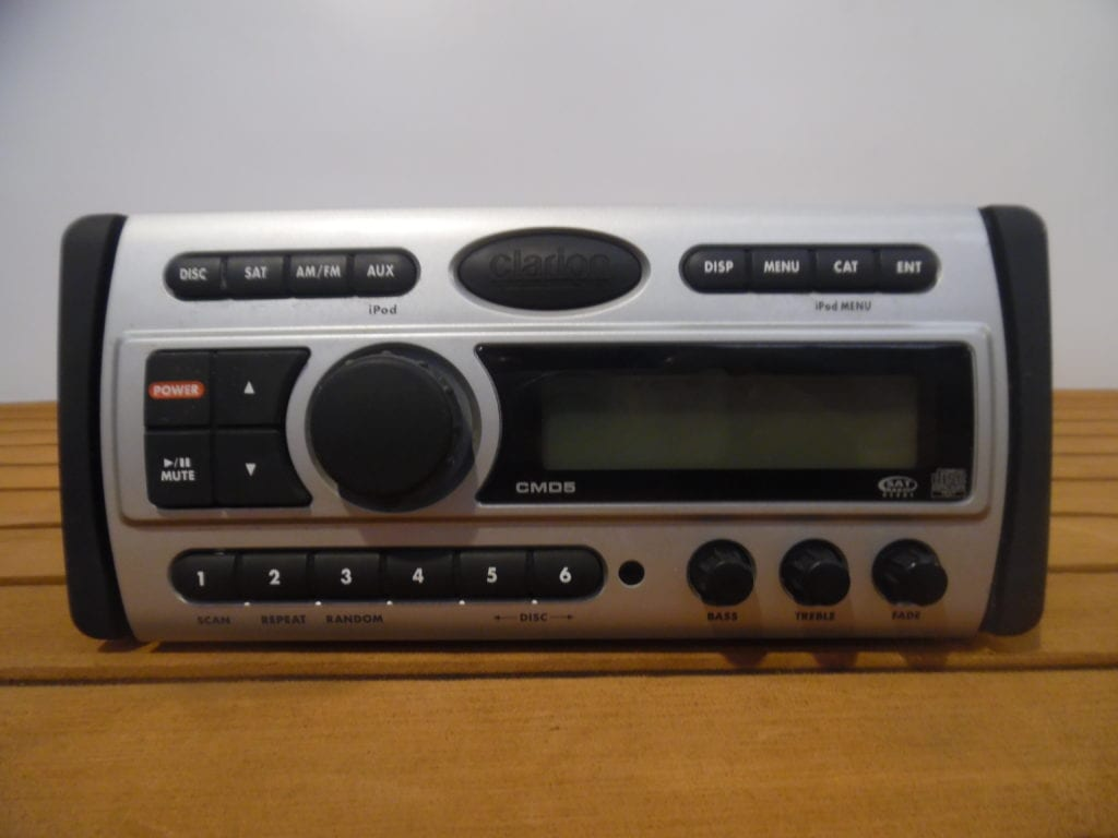 hight resolution of clarion cmd5 marine stereo head unit w wire harness fully tested max marine electronics