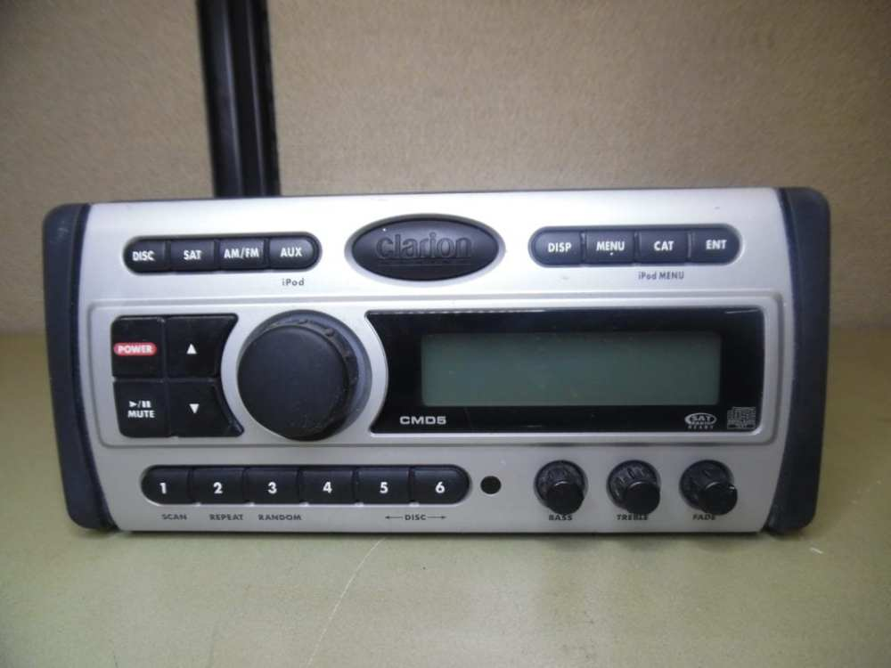 medium resolution of clarion cmd5 marine stereo head unit w wire harness fully tested max marine electronics