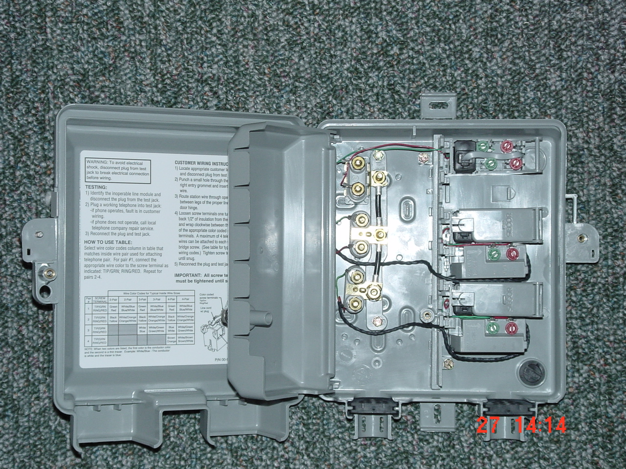 telephone network diagram solar system wiring interface box