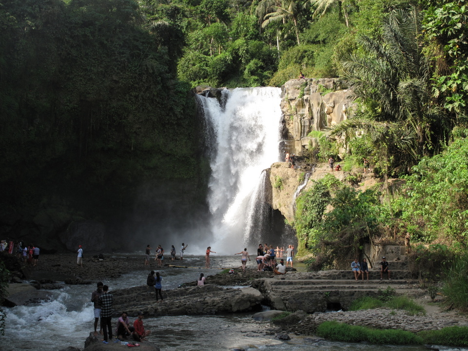 Водопад Тегенунган в районе Убуда на Бали