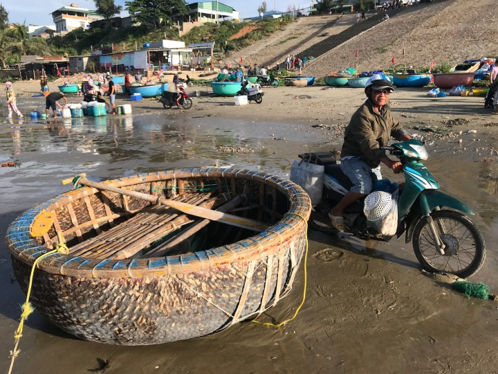 Fisherman boat in Muine, Vietnam