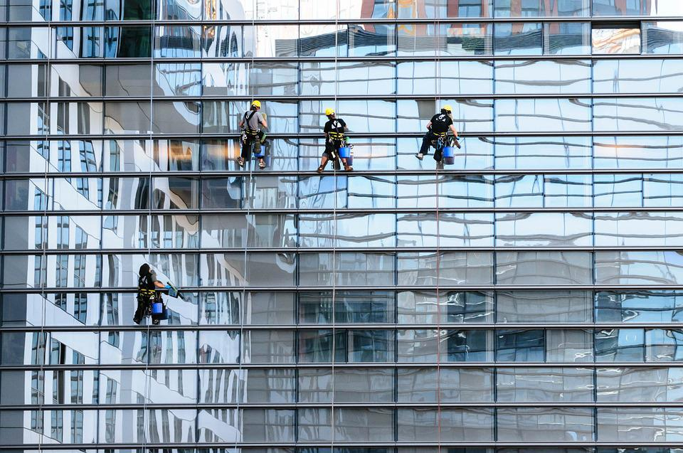 Glass Facade, Window Cleaner, Facade, Window Cleaning