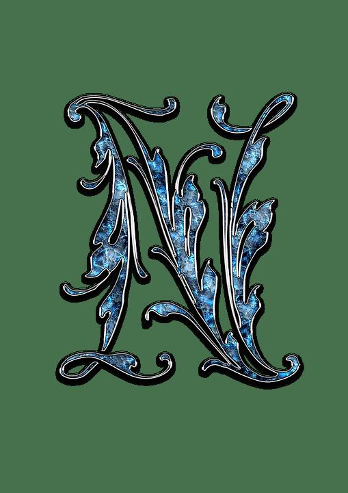 Huruf N Keren : huruf, keren, Photo, Alphabet, Initials, Letter, Pixel