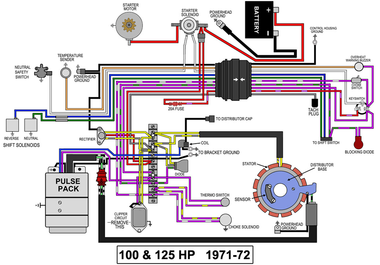 mercury remote wiring diagram [ 1500 x 1045 Pixel ]