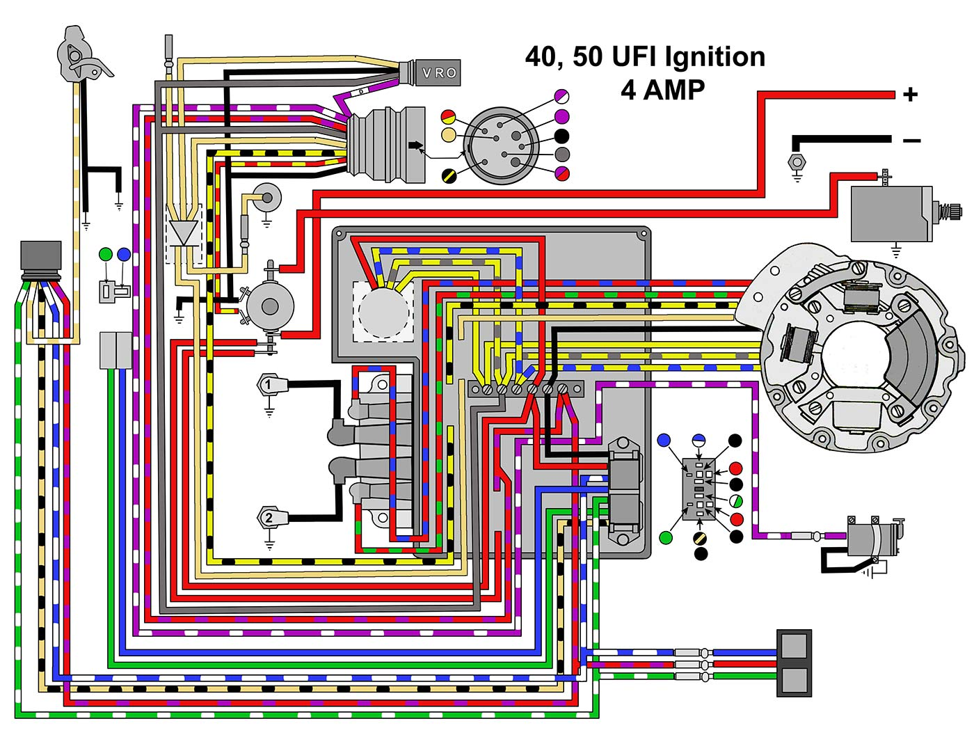 Wiring Diagram For Yamaha 40 Hp : Johnson outboard wiring schematic diagram