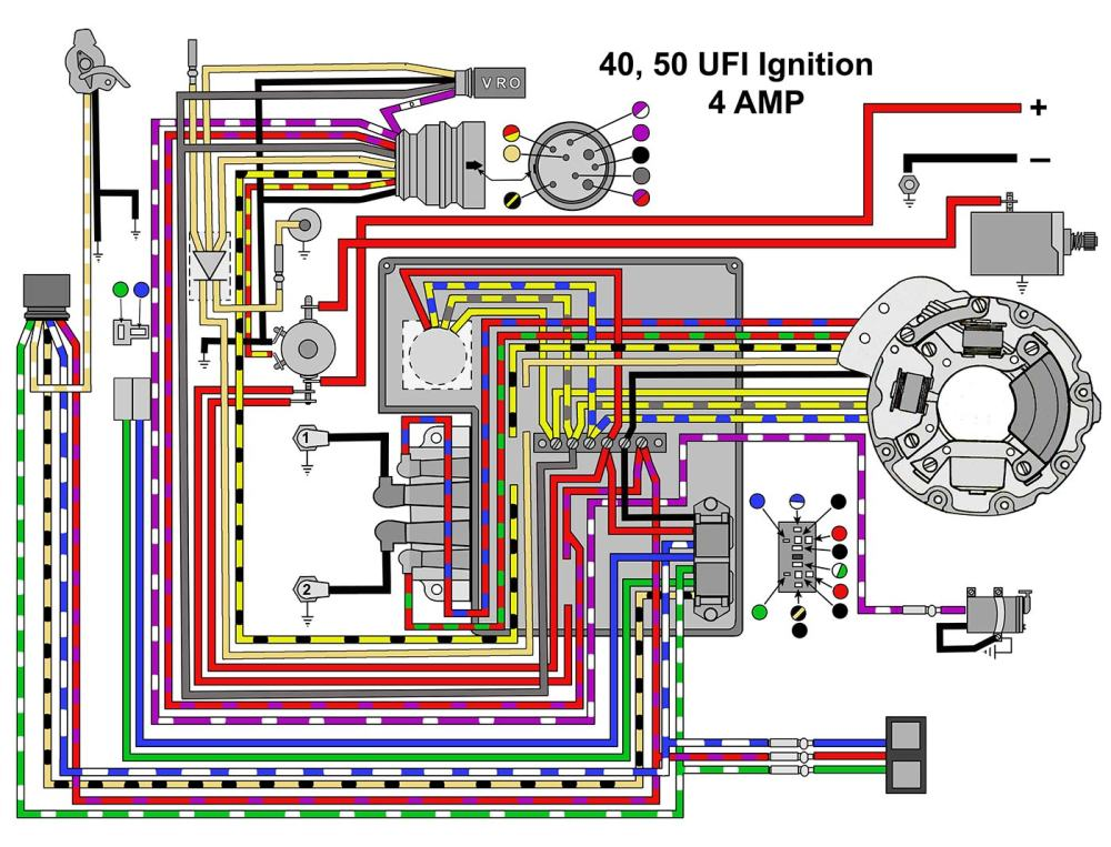 medium resolution of mastertech marine evinrude johnson outboard wiring diagrams40 50 hp with ufi ignition