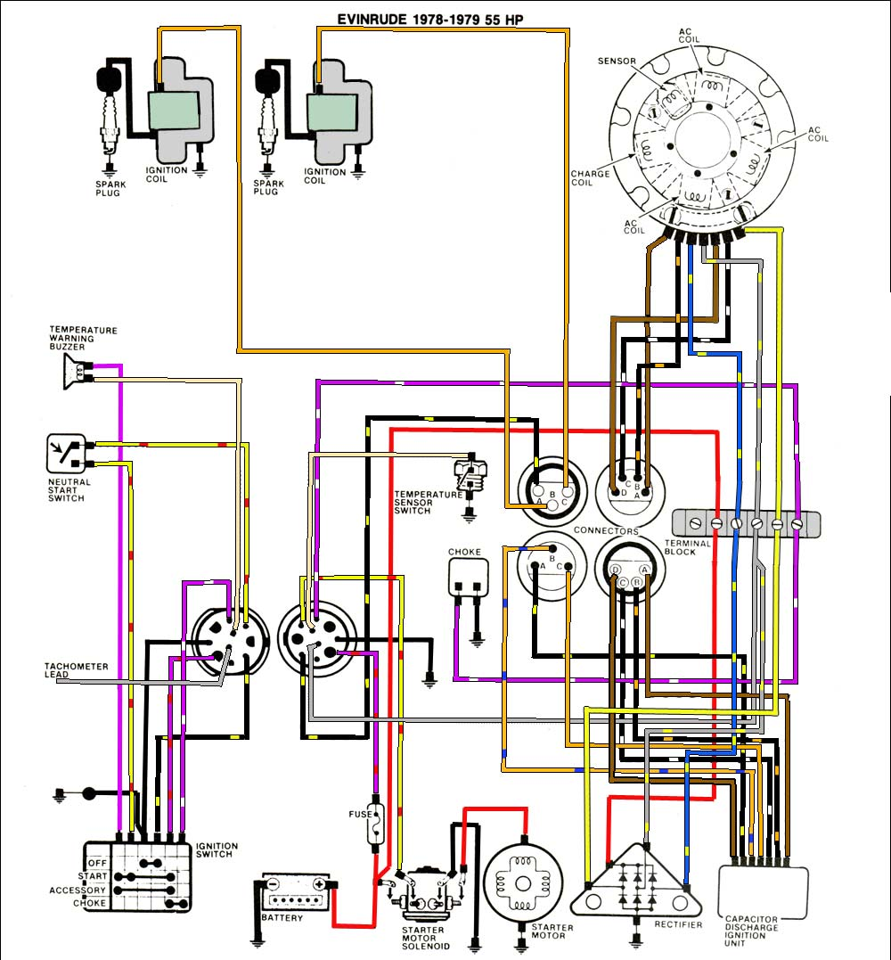 medium resolution of evinrude johnson outboard wiring diagrams mastertech marine 25 evinrude ignition wiring diagram