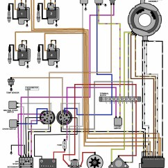 Mercruiser 4 3 Alternator Wiring Diagram 2010 Toyota Tundra Stereo Evinrude Johnson Outboard Diagrams -- Mastertech Marine