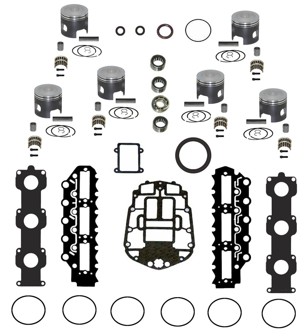medium resolution of johnson evinrude v6 150 175 ficht rebuild kit