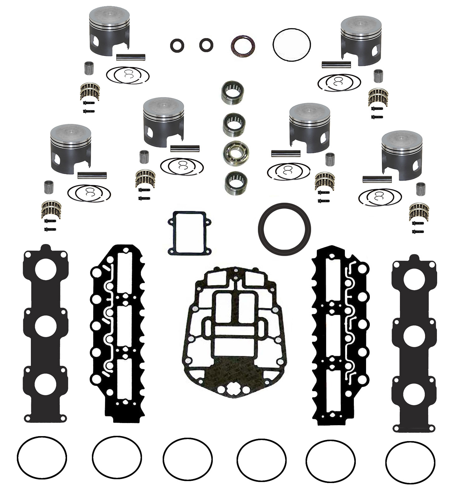 hight resolution of johnson evinrude v6 150 175 ficht rebuild kit