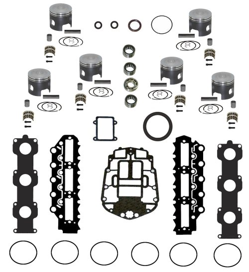 small resolution of johnson evinrude v6 150 175 ficht rebuild kit
