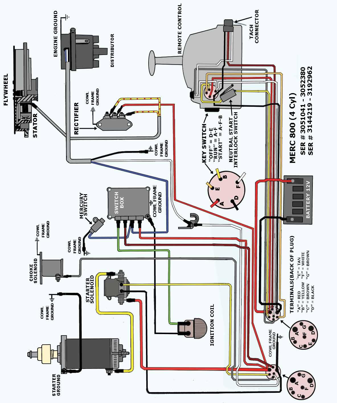 mercury 350 starter wiring