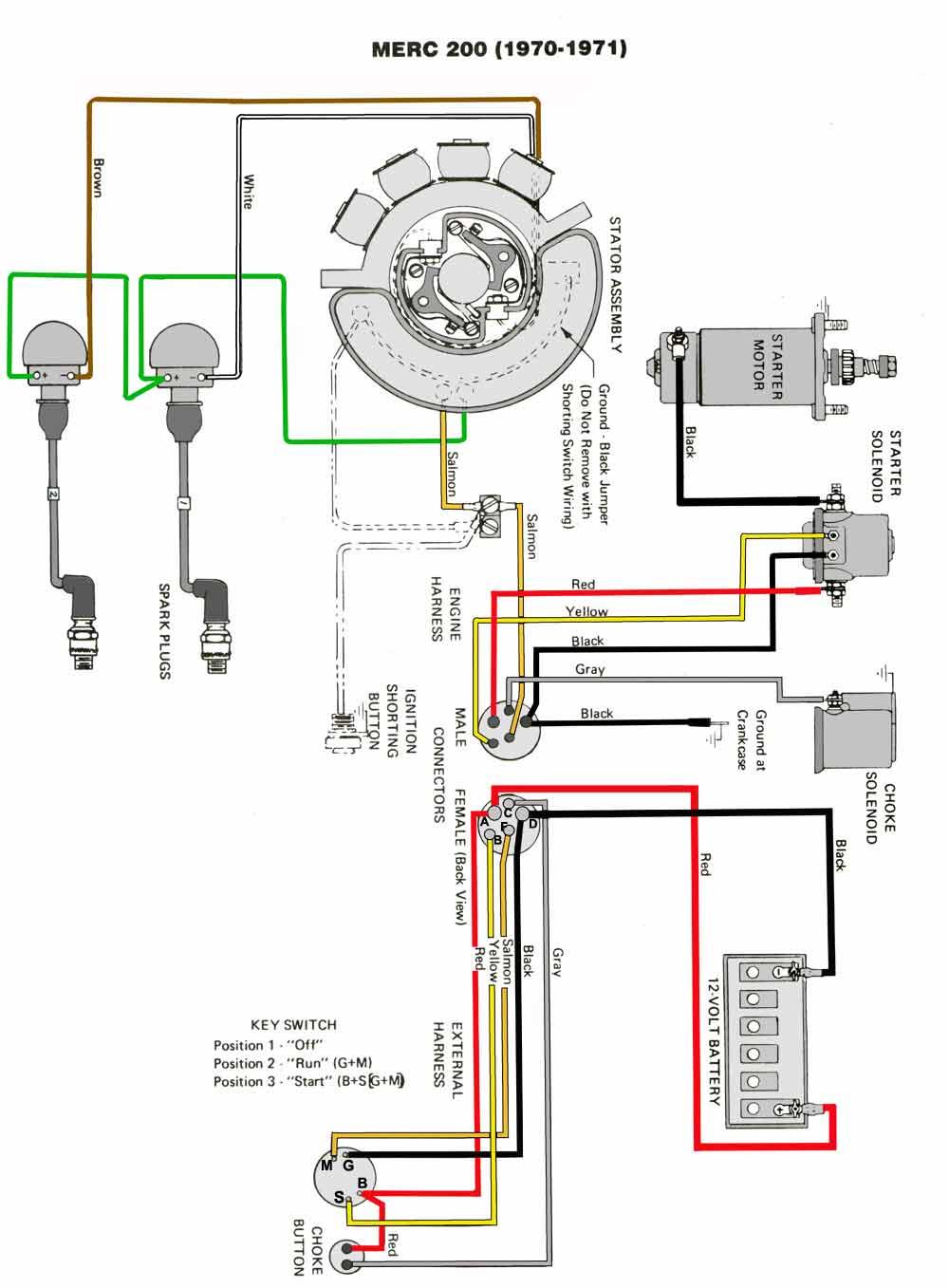 medium resolution of mercury marine alternator wiring diagram