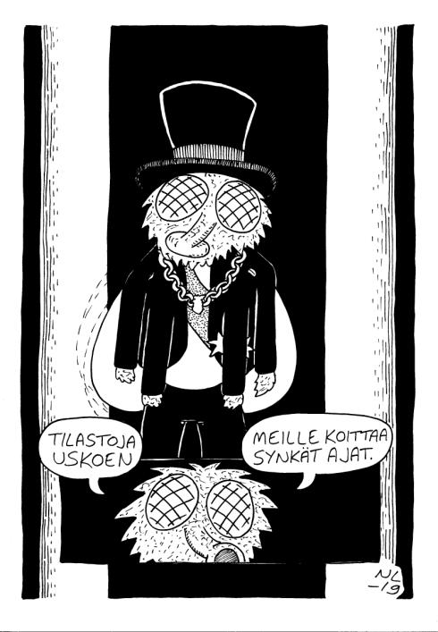 Kolmekymppinen lähihoitajaopiskelija Kouvolasta. Tuttu näky monilta eri sarjakuvafestivaaleilta. nikkelindholm.wordpress.com