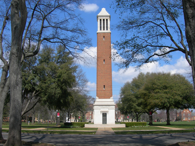 Denny Chimes on the University of Alabama Campus