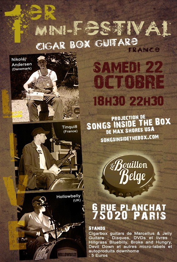 Cigar Box Guitar Festival – Paris, France