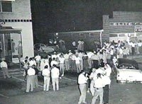 The scene folling Albert Patterson's murder in Phenix City, Alabama