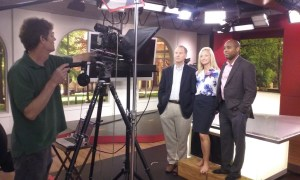 Behind the Scenes -- University of Alabama Professors Andrew Billings, Kim Bissell, and Kenon Brown teach online courses on how to work with media for Olympic atheletes as Preston Sullivan records in the studios of WVUA 23 TV.  The courses were produced and directed by Max Shores.  Executive Producer Amy Martin.