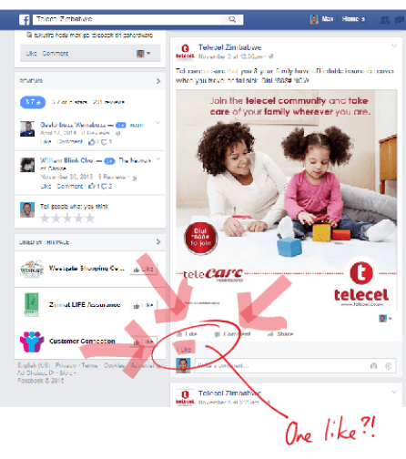 telecel facebook post
