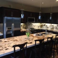 Kitchen Countertops Cabinets Colorado Springs Blanc Du Granite Kitchen, Island And Backsplash ...