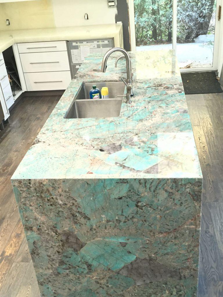 countertops for kitchen sink waste disposal amazonite quartzite island and onyx - maxspace ...