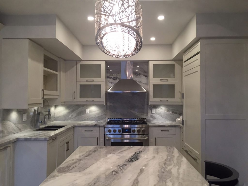 granite kitchens eco friendly kitchen cabinets mont blanc quartzite and full backsplash ...