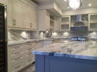 Mont blanc quartzite kitchen and full backsplash ...