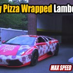 Cheesy-Pizza-Wrapped-Lamborghini