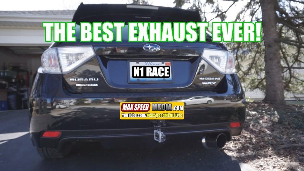 THE BEST EXHAUST EVER! Subaru WRX Invidia N1 Racing Exhaust