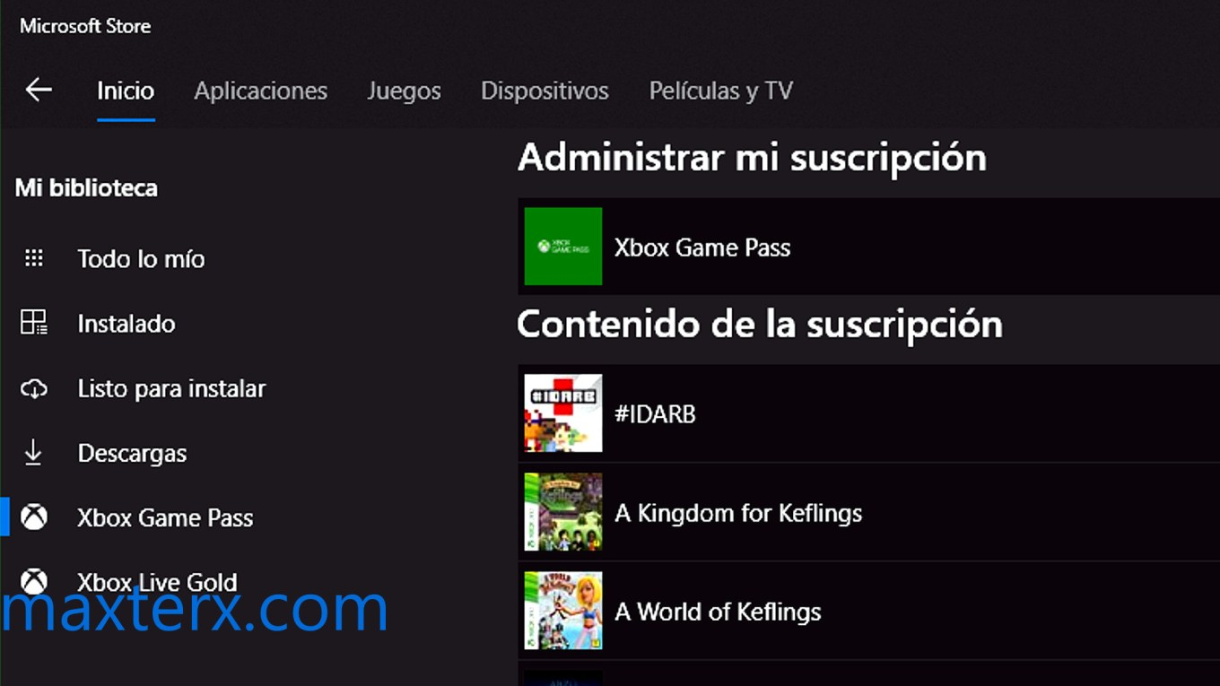 xbox game pass en windows 10 pc
