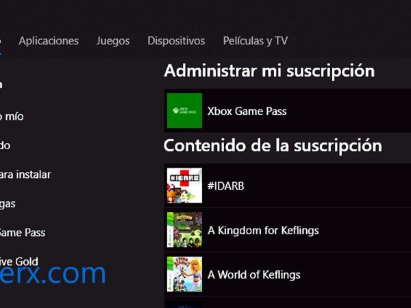 xbox game pass en windows 10 pc