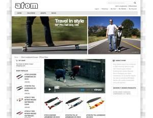 New Atom Longboards Online Store