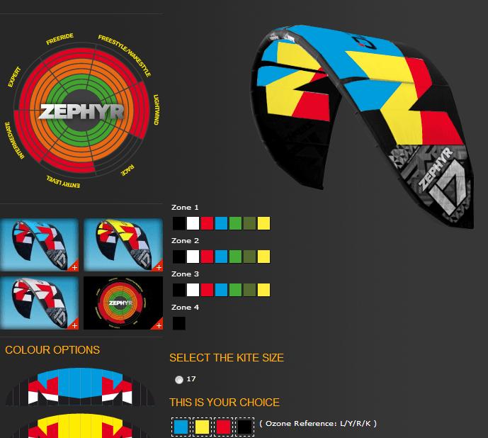 Ozone custom colour kites
