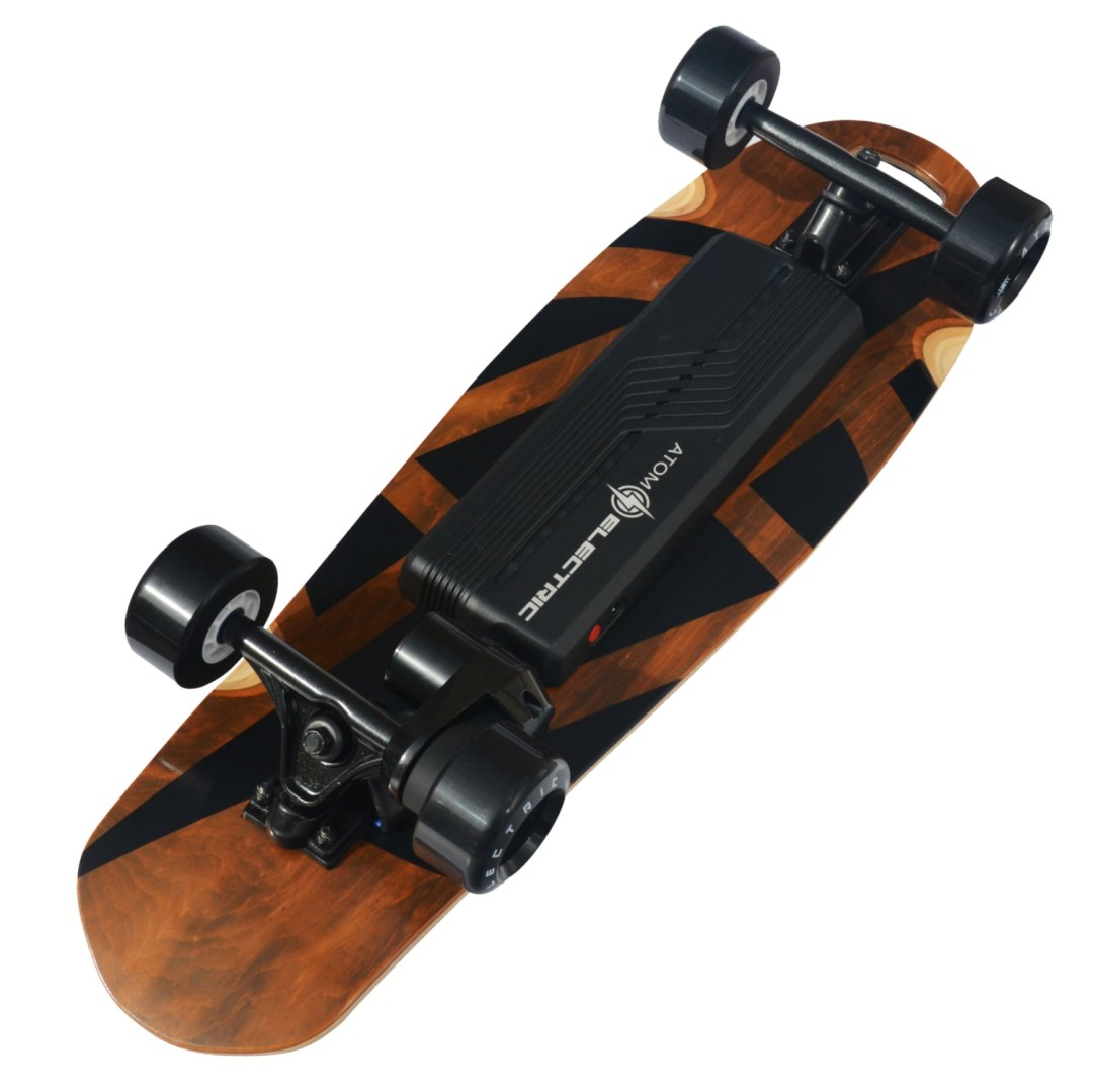 40406 - Atom Electric B.10 Longboard Skateboard - 1000W Single Belt Drive - 90Wh Li-Ion Battery