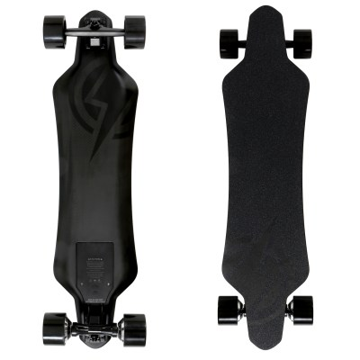 40407 - Atom Electric H16D Carbon Longboard Skateboard - 158Wh Lithium Battery - 1400W Dual Hub Motors