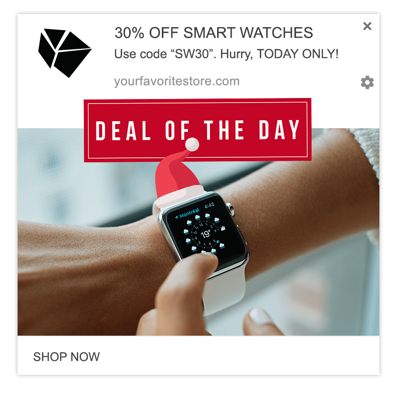deal of the day web push