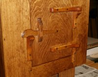 Rustic Wall Cabinet w/Hand Carved Hinges & Latch | Max Vollmer