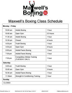 MB Class Schedule 11-23-15