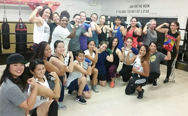 Striking that Rosie the Riveter pose! Ladies' Night 4 was full of inspiration 🏼and strength 🏽!Thank you to everyone who came out and participated! Big thanks to Coach Gwena, Coach Heidi, Coach Marielle and DJ Shaye Boogie for an awesome night! Keep your eyes open for more events to come here at @maxwellsboxing 🏼...#maxwellsboxing #boxing #sandiegoboxing #usaboxing #ladiesnightboxing #gno2017 #letstrain #workingit #miramar #miramesa #lajolla #poway #scrippsranch @sherm06 @gwenalechat @alyssiamai619 @shayesg007 @tsummers617 @rodericarina