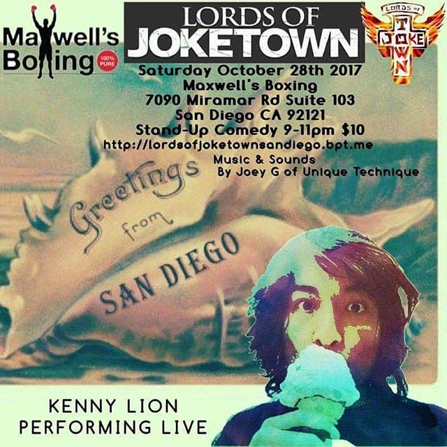 We welcome Roland Bondoc, a Mira Mesa High School Alumni and current Los Angeles based comic, back home performing with the Lords of Joketown!  He'll be showcased with hilariously funny comics this Saturday at Maxwell's Boxing!  Buy your tickets soon! https://lordsofjoketownsandiego.brownpapertickets.com/#comedy #standupcomedy #comics #sandiegocomedy #sandiegoevents #sandiego #sdshows #maxwellsboxing #lordsofjoketown