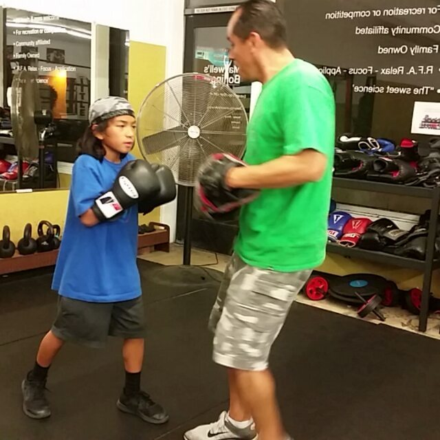 9 year old Joaquin Cruz, he comes to work everyday, I love his passion!  Doin work with Coach Javier #boxing #sandiegoboxing #gyms #youths #sdgyms #fitness #sdfitness #sandiego #maxwellsboxing