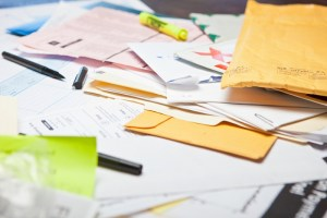 messy financial papers