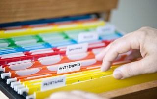 organized personal finances folders