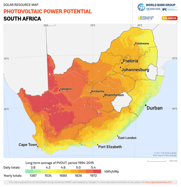 Solar power south africa