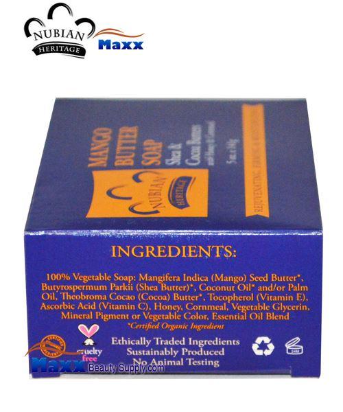 Nubian Heritage Mango Butter Soap 5 oz 299
